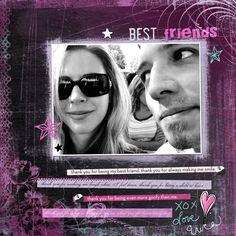 Best Friends Digital Scrapbooking Layout by Erica Hite