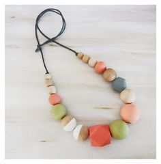 Hand Painted Wooden Necklace/woodenbeads/modernnecklace/statementnecklace/trendingjewellery/beadednecklace/pastelnecklace/pastelwood