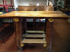 Rustic Log Table $425 - Valparaiso http://furnishly.com/catalog/product/view/id/1980/s/rustic-log-table/