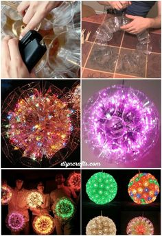 How to Build Amazing Sparkle Balls Out of Plastic Cups So, Christmas may be over for the year, but this is an awesome idea for next year's holiday decor, and frankly it'd actually look pretty cool hanging or sitting around any time of the year Diy Christmas Lights, Noel Christmas, Christmas Balls, Christmas Yard, Silver Christmas, Outdoor Christmas Decorations, Modern Christmas, Holiday Lights, Vintage Christmas