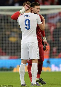 Afterwards, France captain Hugo Lloris (pictured with England striker Harry Kane) thanked ...