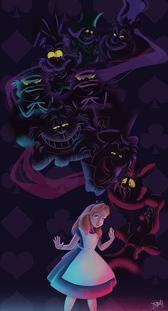 "We're all mad here. by Surnaturel.deviantart.com on @deviantART - A tribute to the characters from ""Alice in Wonderland""."