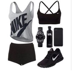 Sport outfit for girls nike free shoes Ideas Nike Free Run, Nike Free Shoes, Nike Shoes Outlet, Cute Nike Outfits, Sport Outfits, Cheer Outfits, Running Outfits, Black Outfits, Workout Attire