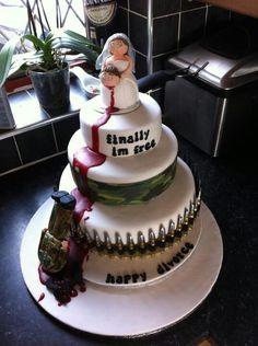 Divorce cake?? I think it's kinda funny. Divorce Humor, Divorce Quotes, Bad Cakes, Cute Cakes, Divorce Party, Divorce Cakes, Funny Wedding Cake Toppers, Wedding Cakes, Cake Wrecks