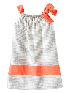 Contrast bow dress | Gap