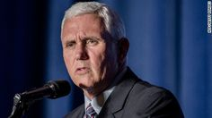 """Indiana Gov. Mike Pence said Donald Trump was being """"serious"""" when he spoke this week about President Barack Obama being the """"founder"""" of ISIS, saying that the GOP nominee """"getting people's attention.""""  August 14/16"""