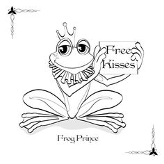 Printable Frog Prince | Frog prince coloring pages - Coloring Pages & Pictures - IMAGIXS