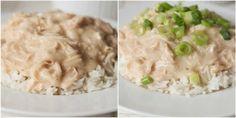 Hawaiian Haystacks- rice chicken gravy, toppings