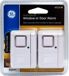 New Ge Personal Security Window/door Alarm Pack) Home Security Home Security Alarm, Wireless Home Security Systems, Security Solutions, Security Door, House Security, Window Alarms, Door Alarms, Personal Security, Security Equipment
