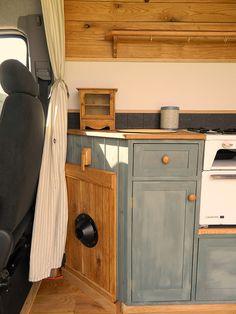 rustic campers campervan TABLE TOP STORAGE