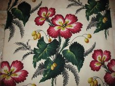 Vintage Tropical BARK CLOTH Barkcloth by CollectandRecollect, $14.95