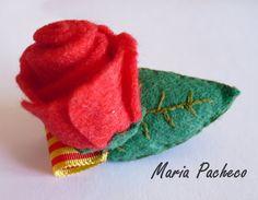Sant Jordi: Broche Rosa