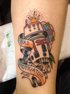 """Bad Motivator,"" my Star Wars tattoo of R5D4  By William Bracey of New Orleans, LA(tattoo created in Orlando, FL during Star Wars Celebration)"