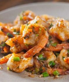 Garlic Ginger Shrimp Stir fry Recipe on Yummly - this Friday's dinner with a nice dill and lemon butter salmon Asian Recipes, Healthy Recipes, Ethnic Recipes, Chinese Recipes, Chinese Food, Kitchen Recipes, Cooking Recipes, Shrimp Stir Fry Easy, Stir Fry Recipes