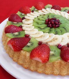 Arkadaşlar bu tartı yapmanızı Şiddetle tavsiye ediyorum. Nefis Göründüğü kadar Tadıda inanılmaz lezzetli oluyor MEYVELI YUMUŞAK TART ... Mini Tortillas, Quiche, Turkish Kitchen, Fun Easy Recipes, Food Presentation, No Cook Meals, No Bake Cake, Granola, Bakery