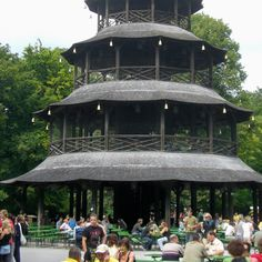 Biergarten chinesischer Turm München