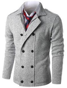 $47.99 Doublju Mens Double Breasted Mock Neck Sweater Cardigan (KMOCAL045)