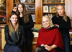 "Three generations ~ Xenia Nikolaevna Sheremeteva-Yusapova-Sfiris with her daughter,Tatiana Sfiris-Vamvakidis and granddaughters Marilia Vamvakidis and Yasmina Xenia Vamvakidis.They are the descendants of the Yusupov family. ""AL"""