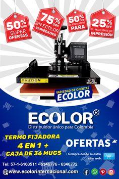 Excelentes máquinas para sublimar en oferta puedes comprarla en nuestro sitio web: www.ecolorinternacional.com Comic Books, Crates, Comic Book, Comics, Comic