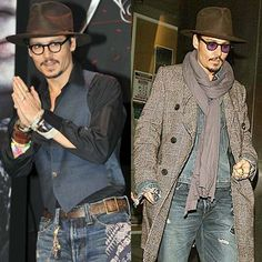 Depp hobo chic for men . This is a Winning look for men.In My book ; Bd Fashion, Indian Men Fashion, Star Fashion, Hobo Chic Style, Gq Style, Casual Fall Outfits, Chic Outfits, Men Casual, Chic For Men