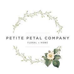 One more post because we're so excited for our client Petite Petal Co.'s new flower shop to open in 2 weeks! Logo + branding | Deluxemodern Design.