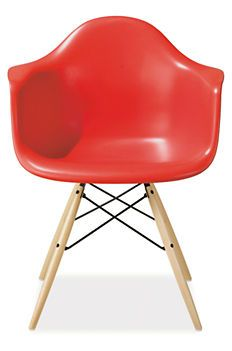 Eames® Molded Plastic Chairs with Maple Dowel Leg Base - Herman Miller Collection - Dining - Room & Board