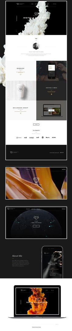 Own portfolio template #webdesign