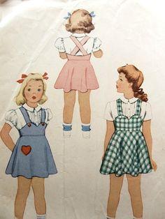 VINTAGE 1940S BLOUSE, SUSPENDER SKIRT, PANTIES PATTERN MCCALL 5130