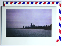 That city, that view.  Polaroid shot in Chicago, USA. Each notecard is 3.5 x 4.9, printed on crisp, white 14 pt. stock and tucked into a nostalgic airmail envelope.