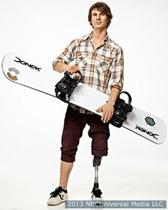 USA Paralympic Evan Strong had been a professional skateboarder before the motorcycle he was riding was hit by an SUV in November 2004, resulting in the then-17-year-old having his left leg amputated just below the knee.