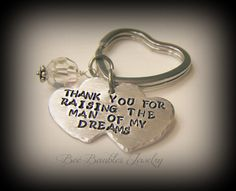 Hand Stamped Keychain - So thankful this website had a place to Pin this because it was either that or buy now!