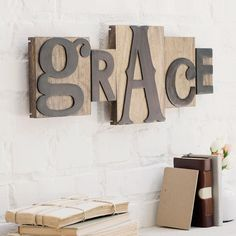 Grace - Letterpress Block Set - customize your own word, from DaySpring