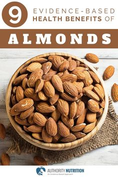 The almond is a popular tree nut that is loaded with important nutrients. This is a detailed article about almonds and their health benefits. Learn more here: http://authoritynutrition.com/9-proven-benefits-of-almonds/