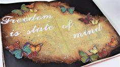 Butterflies art journal mixed media tutorial
