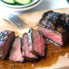 how to make a perfect steak on the grill  (I don't know if this article is true or not)...I just let my husband do this.  Tonight we had steak JUST this beautiful!