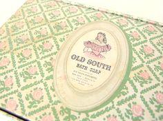 Vintage Empty Old South Soap Box