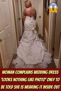 #Woman #Complains #Wedding #Dress #Photo #Wearing #Inside