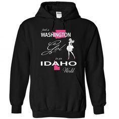 Awesome Tee WASHINGTON GIRL IN IDAHO WORLD Shirts & Tees