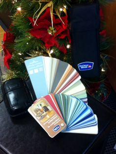 A Benjamin Moore Colour Deck.  A great stocking stuffer, or gift for the new home owners or renovators in your life!