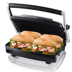 Gourmet Health Grill Panini Press and Buger Maker