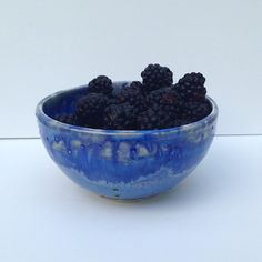 Blue Pottery Berry Bowl on Etsy, $24.00