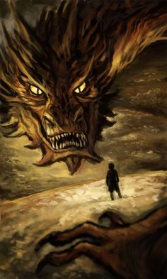 Smaug - That is pretty amazing artwork! Hobbit 1, Concerning Hobbits, Cool Artwork, Amazing Artwork, Jrr Tolkien, Dragon Art, Middle Earth, Lord Of The Rings, Lotr