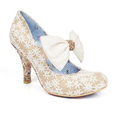 The pretty Windsor shoes from Irregular Choice are glittering gold perfection Bridal Shoes, Wedding Shoes, Wedding Attire, Wedding Dresses, Windsor Shoes, Shoe Boots, Shoes Sandals, Irregular Choice Shoes, Shoes 2017