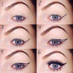 Winged eyeliner! - actually kinda helpful lmao!