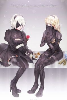 NieR Automata 2B and 6O