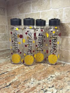 Personalized Water Polo Team Water Bottles (vinyl decal) BPA Free by AtoZVinylCreations on Etsy