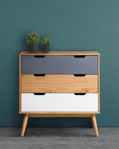 Mobilier - La Chambre Adulte - Commodes & Chiffonniers - Commode scandinave 3 tiroirs  ANAEL