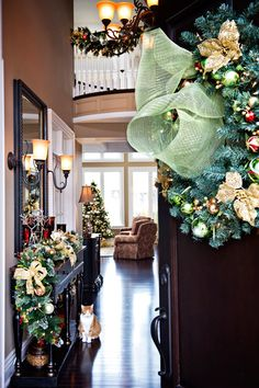 beautiful home at the holidays.