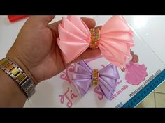 Handmade Hair Bows, Diy Hair Bows, Hair Bow Tutorial, Diy Hair Accessories, Diy Hairstyles, Hair Clips, Projects To Try, Ribbon, Make It Yourself