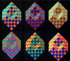 optical illusion cubes